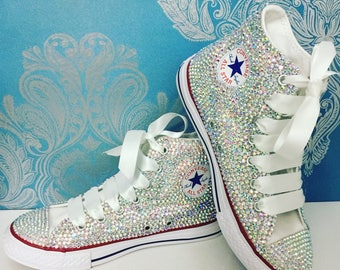All over crystal converse