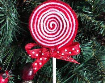 Felt Lolipop Christmas ornament