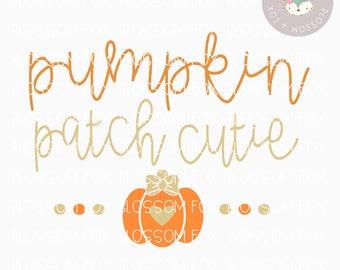 Pumpkin SVG, Pumpkin Patch Cutie Svg, Fall SVG File, Festival Svg, Halloween Svg, Cutting File, Thanksgiving Svg Cut File, SVG