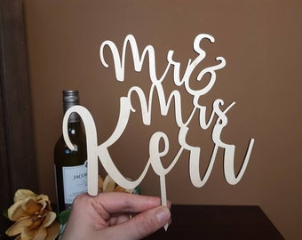 Custom Wedding Cake Toppers | Personalized Wooden Wedding Cake Topper Ideas | Personalized Cake Topper Ideas | Wedding Cake Toppers Initials