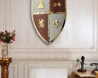 Medieval Royal Crusader Wall Decorative Shield