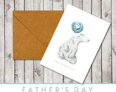 Father's Day Card - Polar Bear