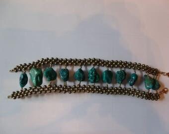 Big and Bold BOHO styleTurquoise bracelet