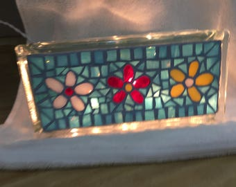 Mosaic Night Light-Flowers