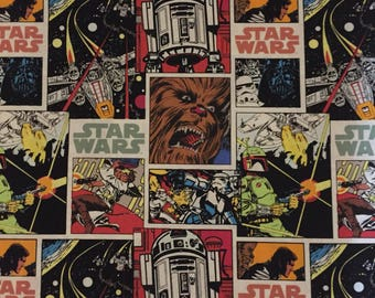 Star Wars Comic Book Strip Cotton Fabric by the Yard or 1/2 Yard