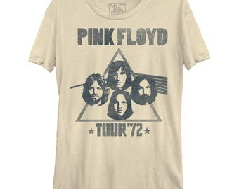 Pink Floyd Tour Women's Casual Tee (PNK0101-324CRM) classic rock, wish you were here, money, brick in the wall, dark side of the moon, 1970s
