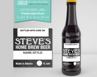 Home Brew Labels - Custom home brew Beer Labels - Home Brew Supplies - Personalized Beer Labels - gift for dad - waterproof - home brew beer
