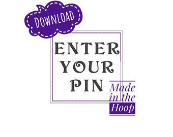 In the hoop Pincushion, Enter your pin, ITH Machine Embroidery Design,  4x4 hoop, Multiple Formats, Instant Download