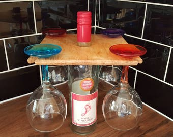 4 Glass wine holder.