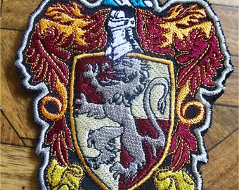 Harry potter, Gryffindor, Gryffindor Patch, HARRY POTTER patch, Patch, embroidery patch, patches for jackets, sew on patch, day of the dead