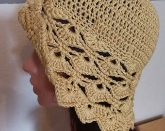 Summer hat, gold beige