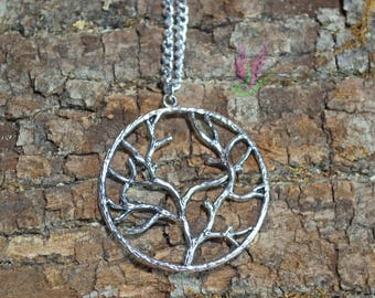 Sliver Tree Of Life Necklace - Tree Of Life - Necklace - Sliver Necklace - Tree Pendant - Sliver - Tree - Necklace Charm - Tree-Of-Life
