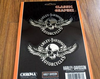 Harley Davidson Sticker Decal Skull with Wings