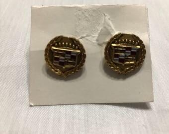 Vintage Cadillac 1960's Brass Men's Shirt Cuff Links Patent 2974381