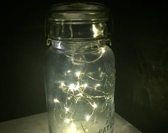Vintage Mason Jar Fairy Light Lantern Indoor/Outdoor