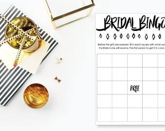 Bridal Shower Bingo. Instant Download. Printable Bridal Shower Game. Neutral. - 04