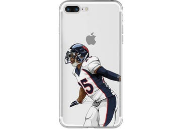 "Football Phone Case, The ""Pitbull"" Football Phone Case, Hand-Drawn Football iPhone Case / Fits iPhone 5, iPhone 6, iPhone 7"