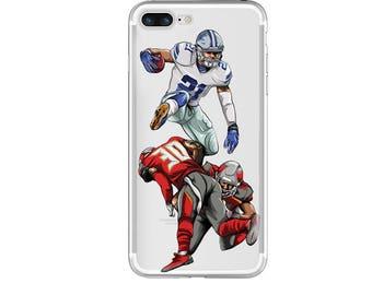 "The ""Hurdle"" Football Phone Case, Hand-drawn Football iPhone Case / Fits iPhone 5, iPhone 6, iPhone 7"