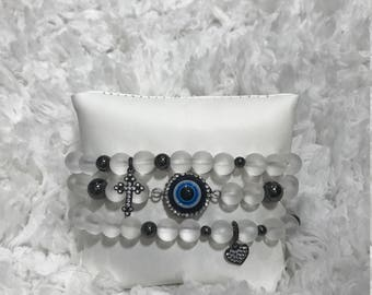 Frosted evil eye