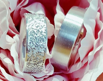 Boho / vintage wedding rings