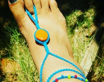 Custom made barefoot sandal