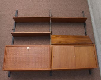 Wall unit Teak Wall by Poul Cadovius for Cado, Denmark. 1960s