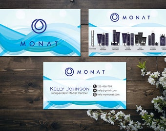 PERSONALIZED Monat Business Card, Custom Monat Business Card, Fast Free Personalization, Custom Monat Hair Care Card MN08