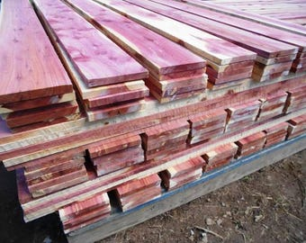 """10 Aromatic Eastern Red Cedar Boards 5/8""""  thick x 4 ft long x 4.25"""" wide"""
