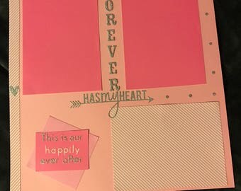 Homemade Couples Scrapbook Page