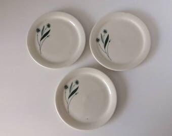 Porcelain Dessert - Salad Plate | Crowned M | Vintage