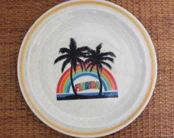 Vintage Florida Ceramic Plate
