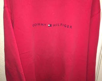 Vintage Tommy Hilfiger Red Crewneck Sweater Size XL