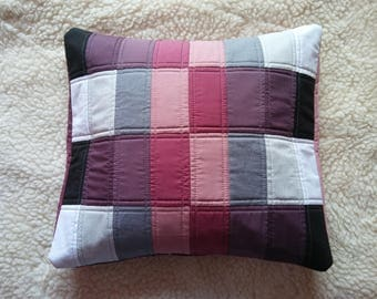 Handmade Quilted Cushion Cover Patchwork Pillow Case 40x45cm, 16'x18'  -  100% Cotton