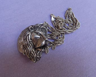 Lion Face Sterling Silver .925