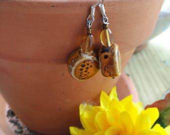 Sunfire drop earrings