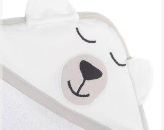 """Polar bear"" towel"