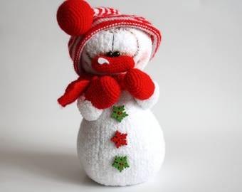 Amigurumi Snowman : Crochet snowman amigurumi christmas stuffed doll mr snowman