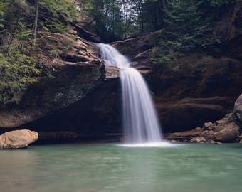Lower Falls, Old Man's Cave   Hocking Hills, OH 8x10