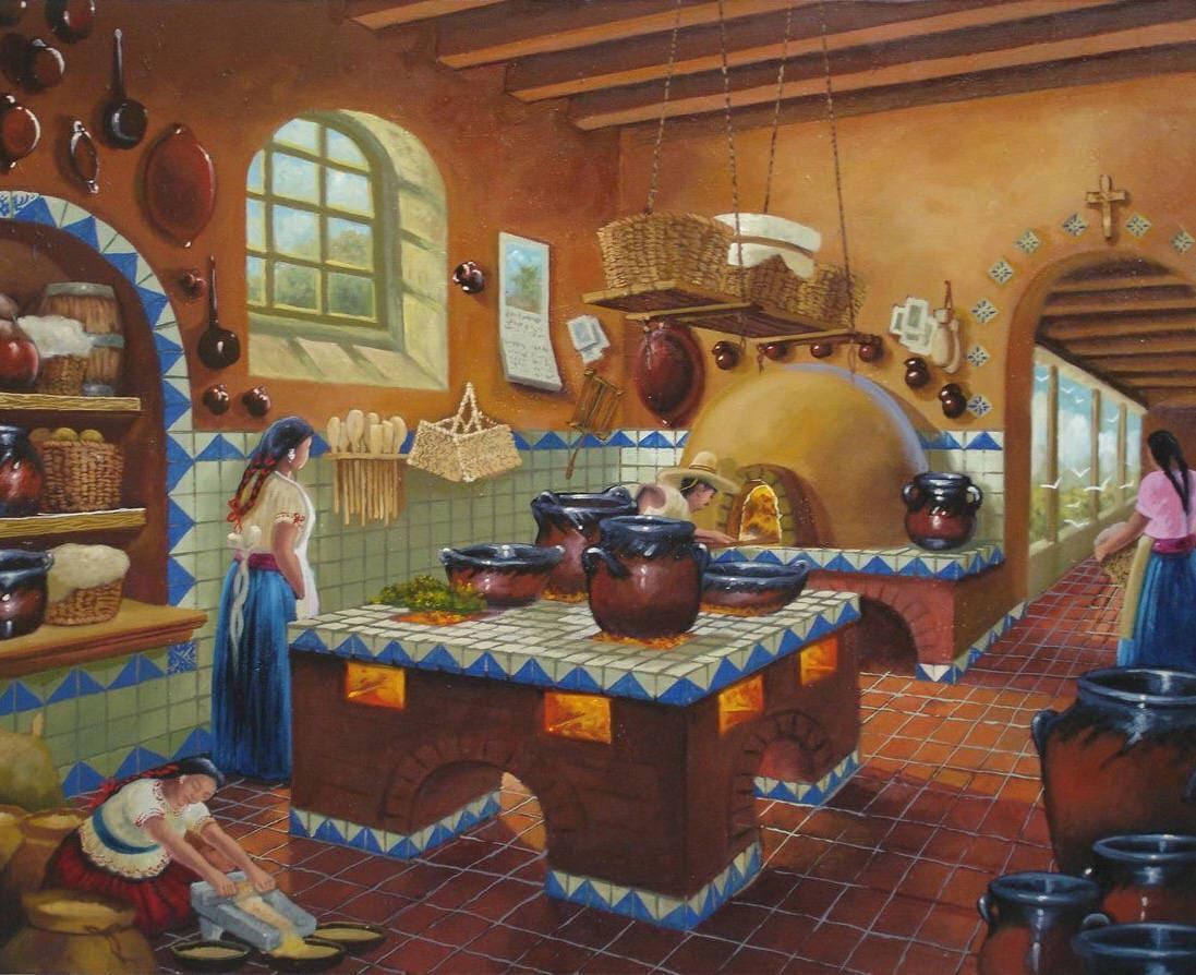 Cocina mexicana arte popular mexicano arte mexicano arte - Pintura de cocina ...