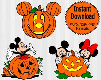Disney Fall SVG Bundle, Halloween Mickey svg, Mickey not so scary halloween svg,  svg files for silhouette, files for cricut,cuttable design