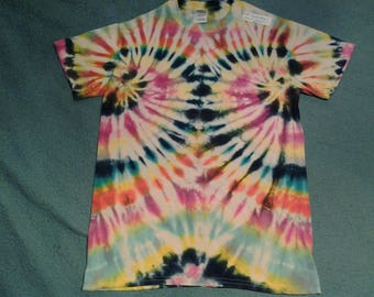 """tie dye t shirt adult small""""double helix"""""""