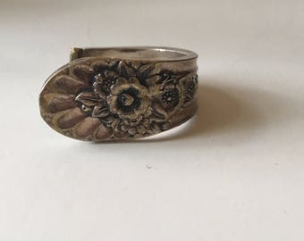 Beautiful Antique silver Plated Spoon Ring Size 6