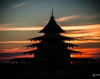 The Temple at sunrise Burning Man 2016