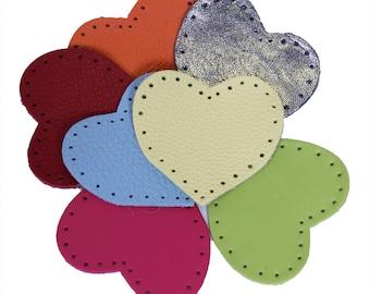 Leather Hearts Heart Hearts