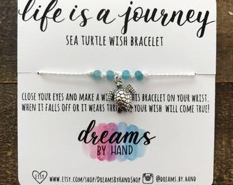 Sea Turtle | Life is a Journey Wish Bracelet