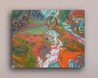 Psychedelic Wall Art Contemporary Original Art Painting Home Office Decor