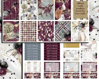 Winter Is Coming | Game of Thrones weekly sticker kit | Game of Thrones stickers | Erin Condren | Happy Planner | Recollections
