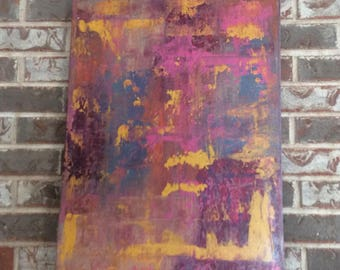 Abstract Painting Free Shipping Original Abstract Painting Acrylic Painting Vibrant Colors Textured Painting Canvas Art  18 X 24 inches