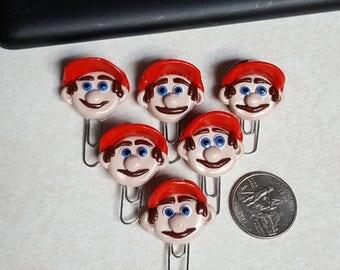 Mario head paperclip bookmarks