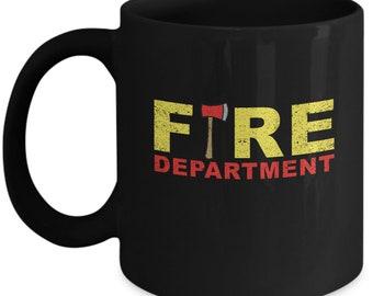 Firefighter Coffee Mug - Fireman Fire Department Gift - Tea Cup